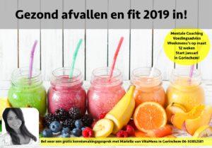 Gezond afvallen en fit 2019 in!